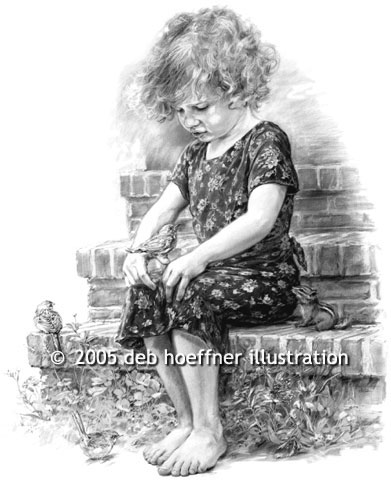 Storyteller sketch illustrator in black and white drawings