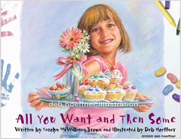 All You Want and Then Some religious book cover illustration for girls