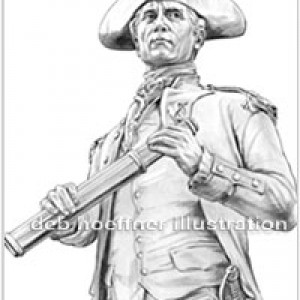 John Paul Jones b&w drawing for corporate logo