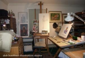 deb hoeffner illustration studio is located in bucks county, pa