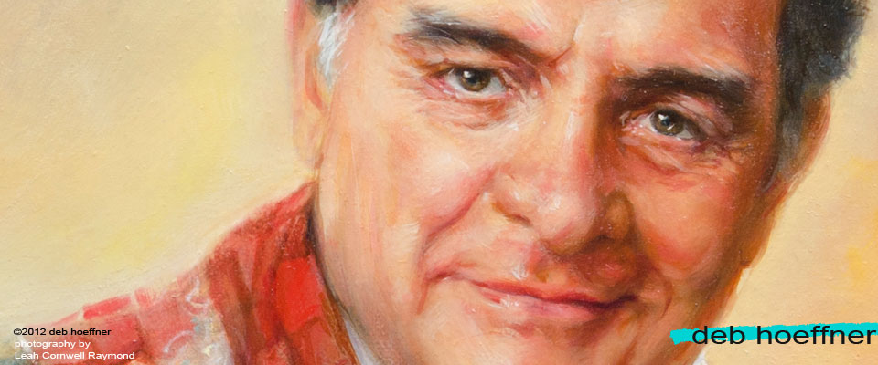 Oil portrait of Reverend Hayden by deb hoeffner realistic illustration