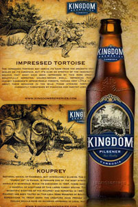 Kingdom Packaging Label illustration for beer and beverage