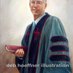 Reverend oil portrait by deb hoeffner