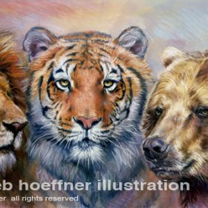 Lions and Tigers and Bears illustration