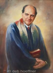 Oil portrait of religious leader