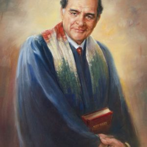 Oil portrait of religious leader