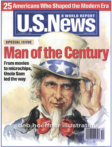 Uncle Sam art - US News & World Report Man of the Century