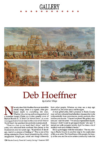 deb hoeffner featured in Bucks County Magazine