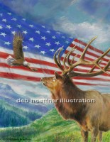eagle-american flag-patriotic art