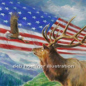 American patriotic images eagle and flag