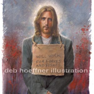 homeless christ print