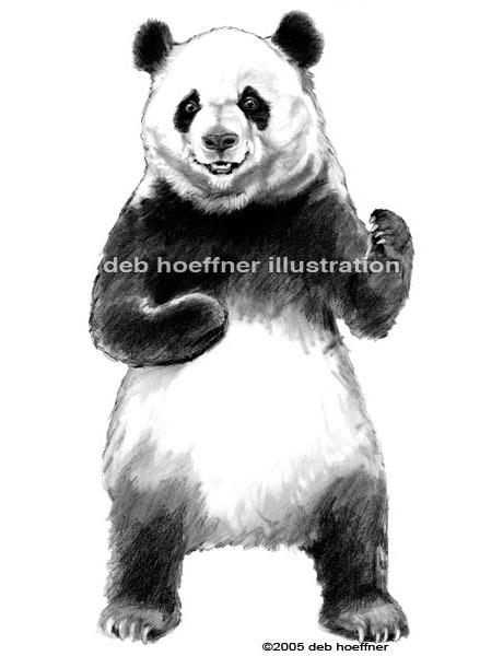 Happy Panda packaging illustration