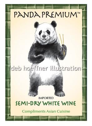 panda illustration by deb hoeffner illustration