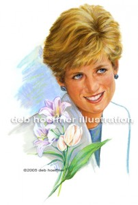 Diana, Princess of Wales commemorative stamp illustrations