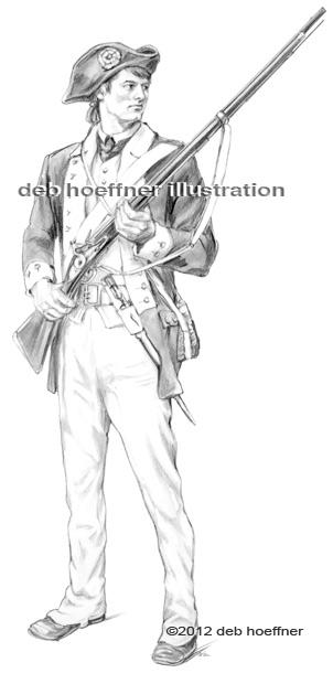 American revolutionary war soldier drawing