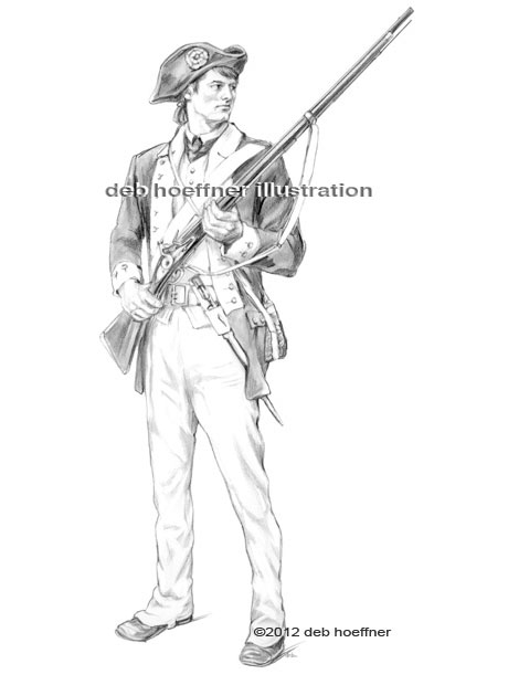 American soldier patriotic illustration