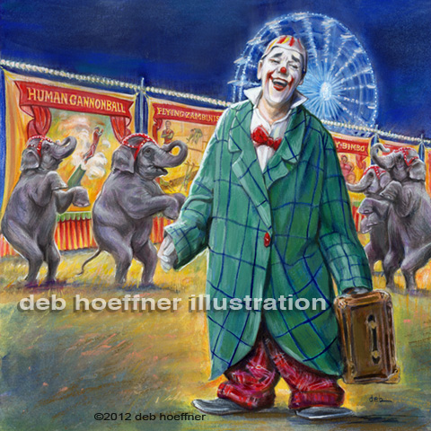 Circus clown illustration