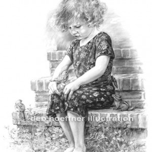 realistic pencil drawings child portrait