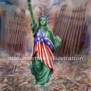 Statue of Liberty Resurrection from World Trade Center September 11, 2001