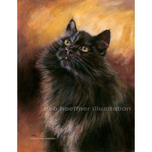 full portrait of siberian cat purebred