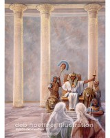 moses before pharaoh religious illustration