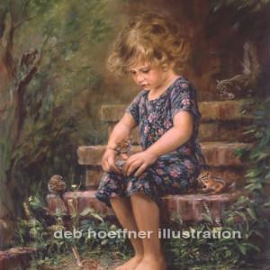 Portrait artist oil painting of child