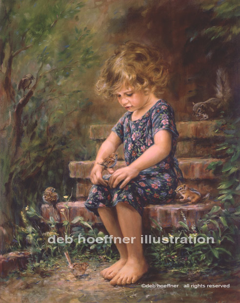 Portrait artist oil painting of child