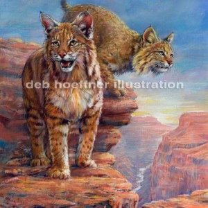 realistic animal illustration big cat