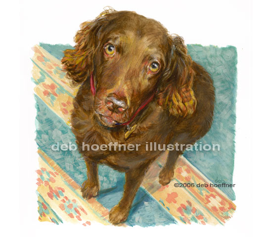 Dog portrait illustration