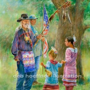 Native American Paintings by deb hoeffner