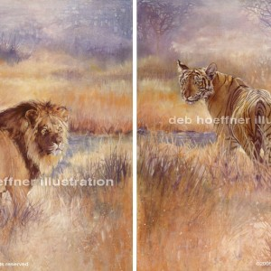 lion-tiger-paintings