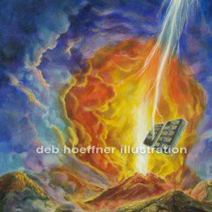 Religious book cover Ten Commandments Mt Sinai