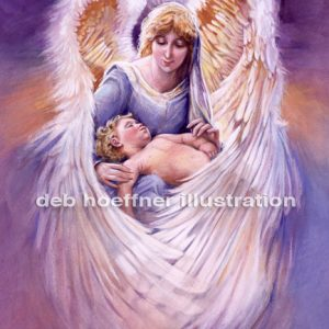 guardian angel illustration painting