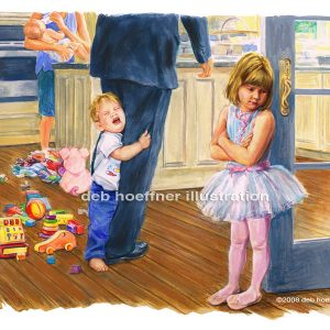 moms choice childrens book illustration busy family