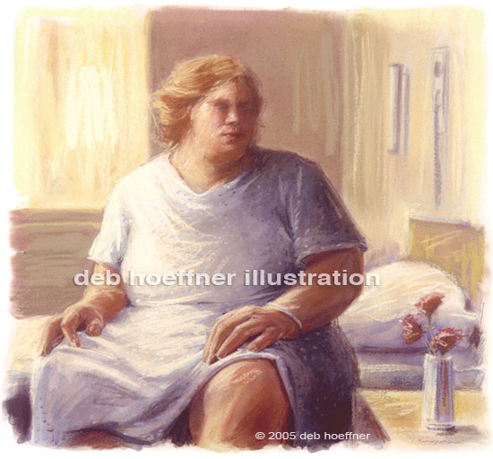 obese patient medical stock illustration obesity