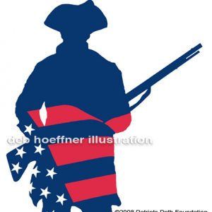 american patriot logo illustration