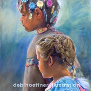 oil paintings of native american children