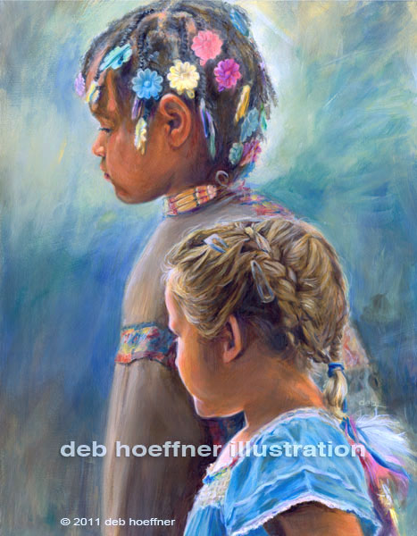 native american children portrait