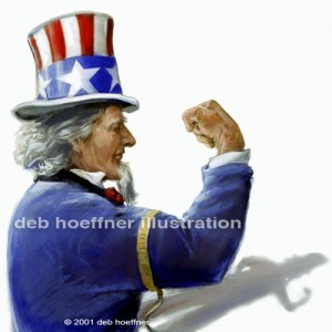 Uncle Sam strong muscle image