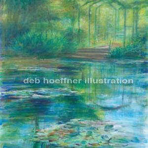 Monet waterlilies watercolor paintings