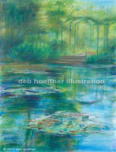 Monet waterlilies impressionist painting by deb hoeffner