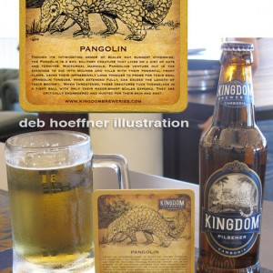 beer label and coaster illlustrations by deb hoeffner illustration