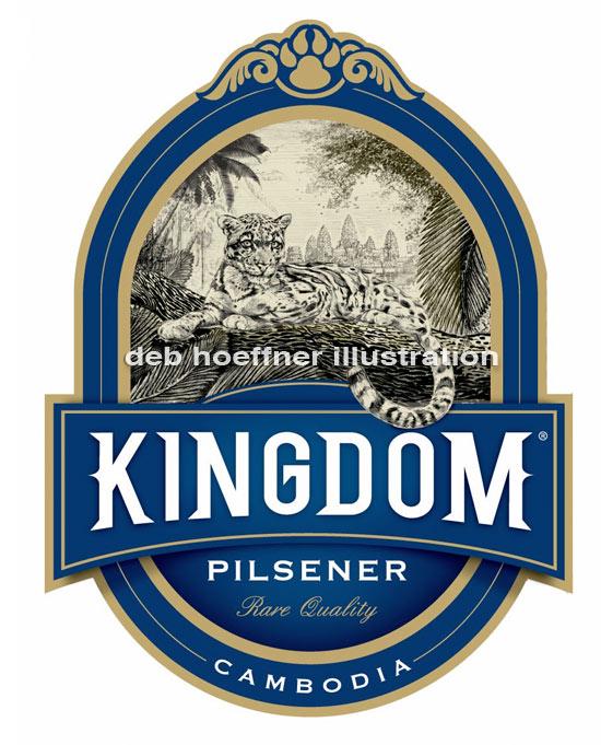 beer label endangered leopard art