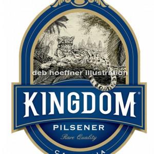 clouded leopard illustration lager beer label