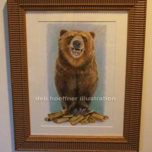 Laughing_bear_framed