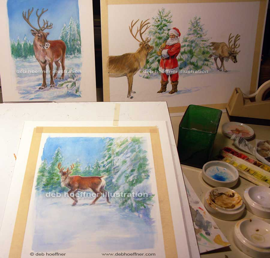 Christmas children's book Santa illustrator deb hoeffner