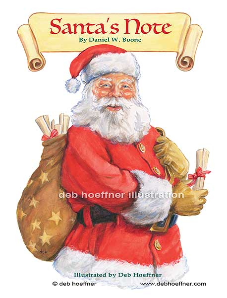Santa illustration christmas children's book
