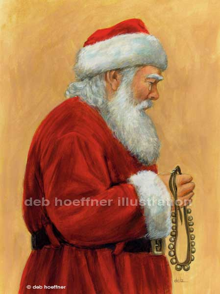 sad Santa Claus Christmas children's book art