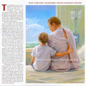 Hope in Healthcare illustration for National Labor Federation calendar