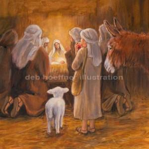 children's book nativity lamb of Jesus Christ